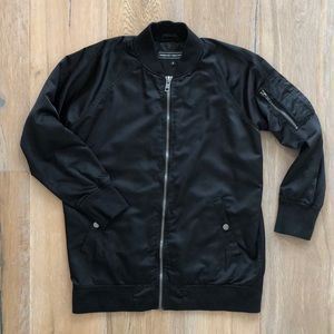 Members Only x Urban Outfitters Silky Black Bomber